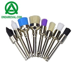 Dental polisher nylon latch flat brush