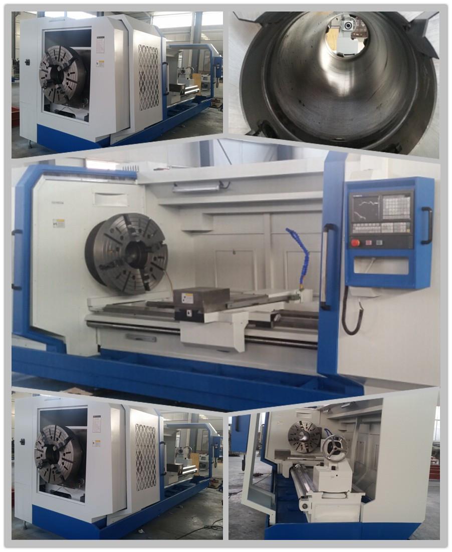 New cnc torno QK1313 cnc metal pipe threading lathe machine tool bed