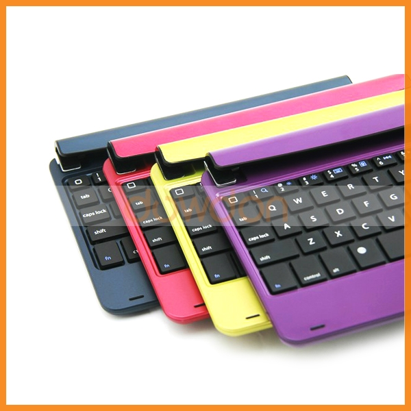 Fashionable 7 Color Alloy Stand Keyboard For iPad Mini PC