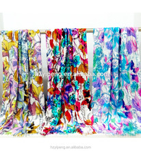 Spring Autumn Winter girl bamboo fiber scarf soft ecofriendly scarfs for play printed floral wing scarf