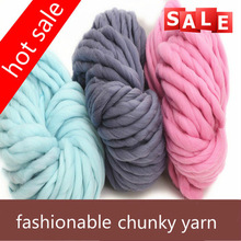 In stock fashionable loopy mango hat wool acrylic blended super chunky yarn/worsted hand knitting yarn in American market