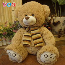 100% Polyester custom wholesale big size giant teddy bear 150cm stuffed plush bear toys