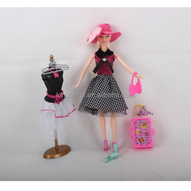 Best Selling Cloth Changing Fashion Doll toy Collection Doll Play Set