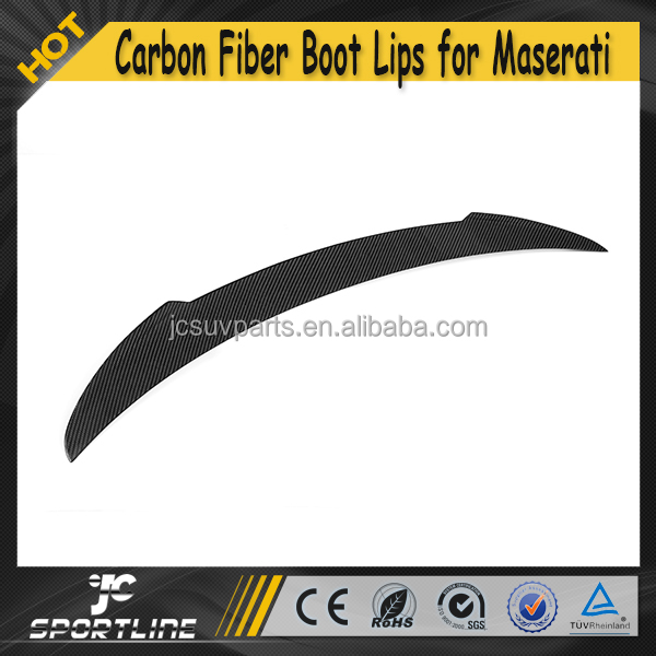 Rear Trunk Spoiler ,Auto Carbon Fiber Boot Lips for Maserati Quattroporte QP Executive GT 4D Sedan 13UP
