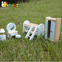 2016 wholesale kids wooden doll furniture set, cheap baby wooden doll furniture set, children wooden doll furniture set W06B048