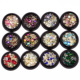 Mixed color Full Beauty colorful Nail Rhinestones Crystal Glass Stones DIY 3D Glitter Nail Art Decorations