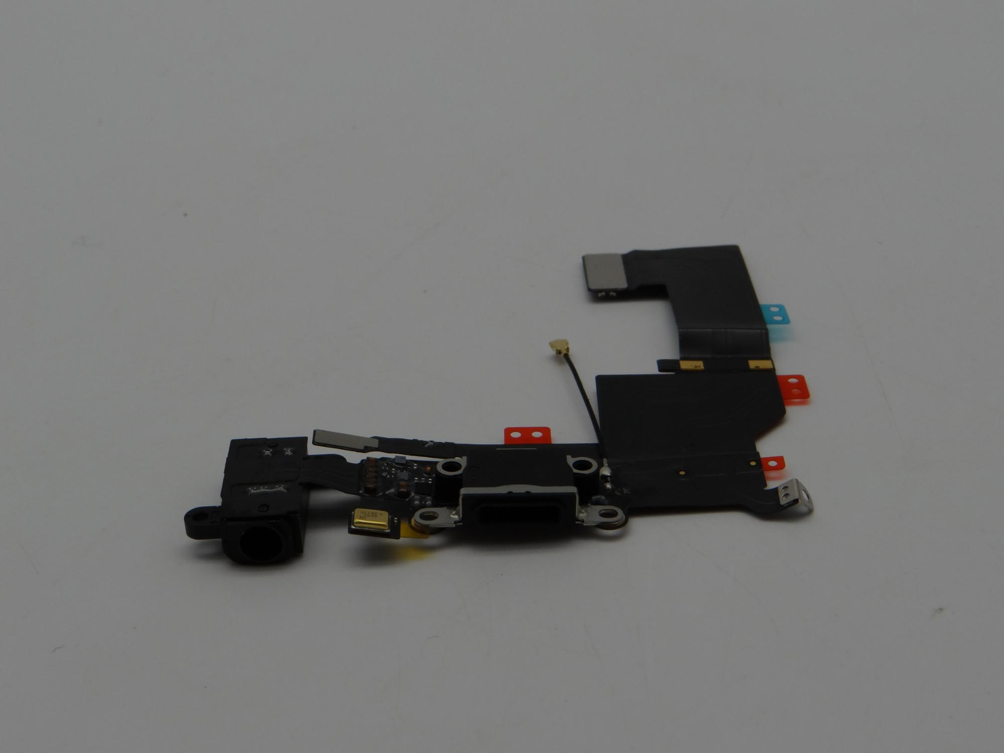 Headphone Audio USB Dock Charger Connector Flex Cable for iPhone 5S color in black