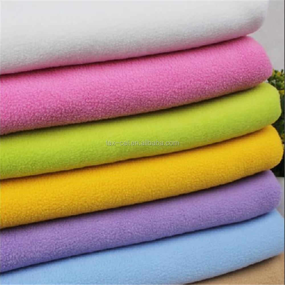 100% Polyester Polar Fleece Laminated With Polar Fleece Fabric For Garments
