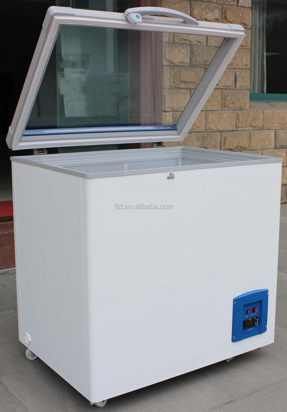 Glass Door Chest Freezer Mini Glass Door Deep Freezer