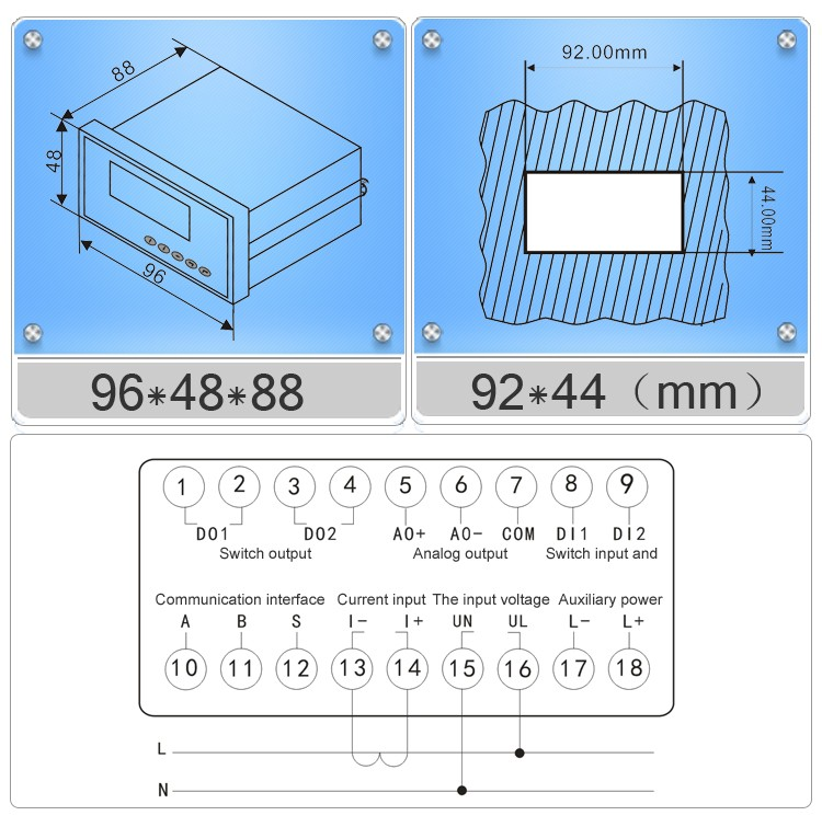 HTB1kP.2JpXXXXbhaXXXq6xXFXXXT digital meter suppliers wiring diagram single phase multifunction meter panel wiring diagram at bayanpartner.co