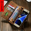 CaseMe 14 Card Slots Zipper Leathe Case for Samsung S7 S7 edge, Wallet for Samsung S7 Case, S7 Case CaseMe