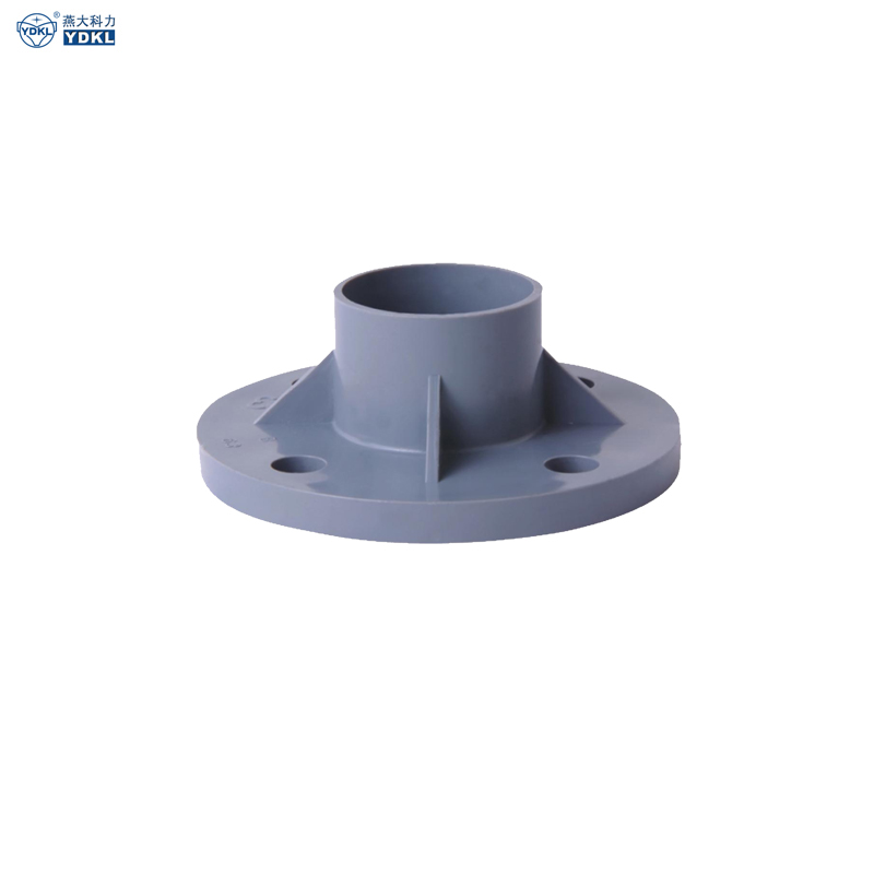 Gray PVC TS Flange (with rubber gasket)