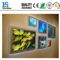 LED Acrylic Picture Frames Wall Mount