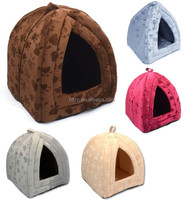 New Soft Plush Covered Pet Bed House for Cats or Dogs