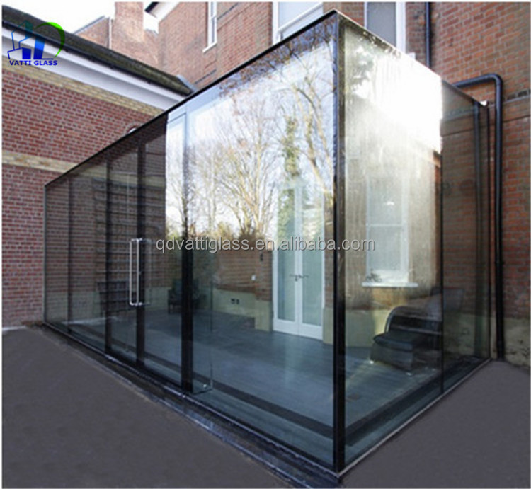 Exterior Tempered Glass Wall Architectural Tempered Glass Walls Clear Glass  Partition Wall For Home And Office