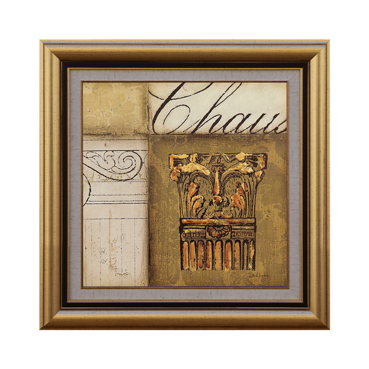 Square Gold Color Photo Frame Painting Frame Plastic Golden Picture Frames