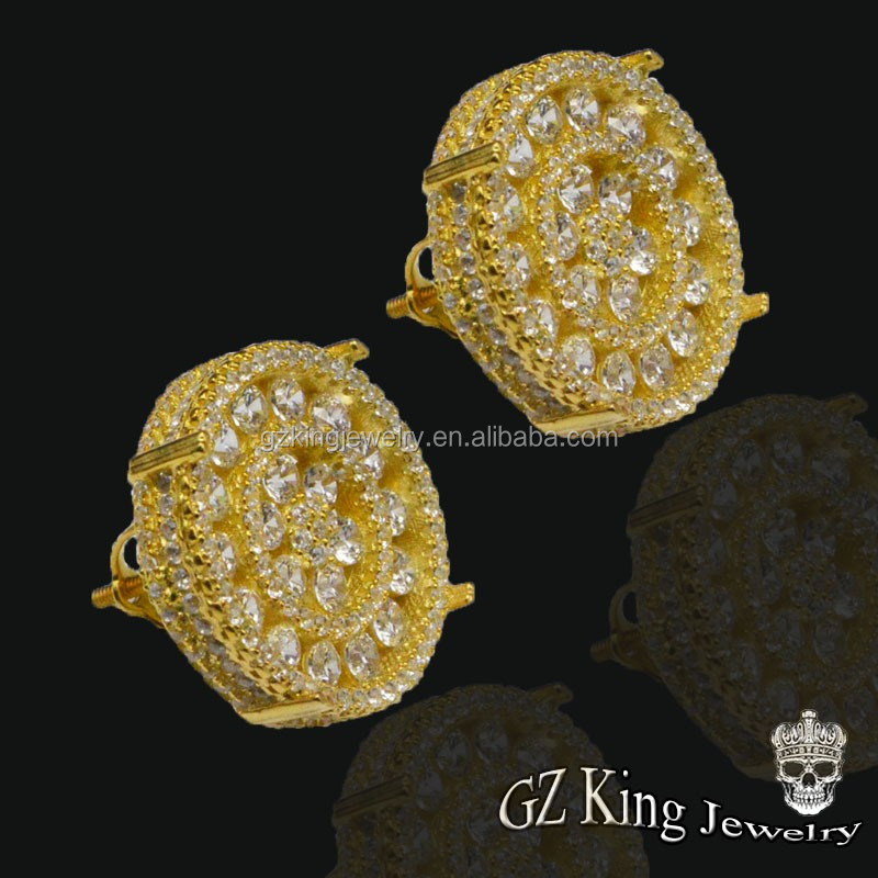 Iced Out Cz Diamond Earring Factory China,Studs And Boys Earrings ...