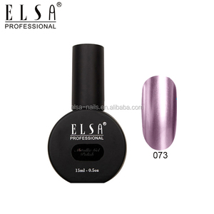 ELSA free sample shining nail gel polish metallic uv gel polish for nail art