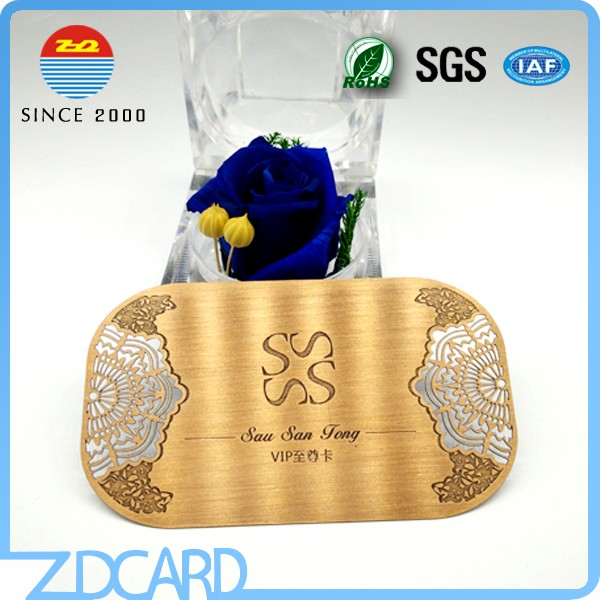 Rose Gold Plated Stainless Steel Cards