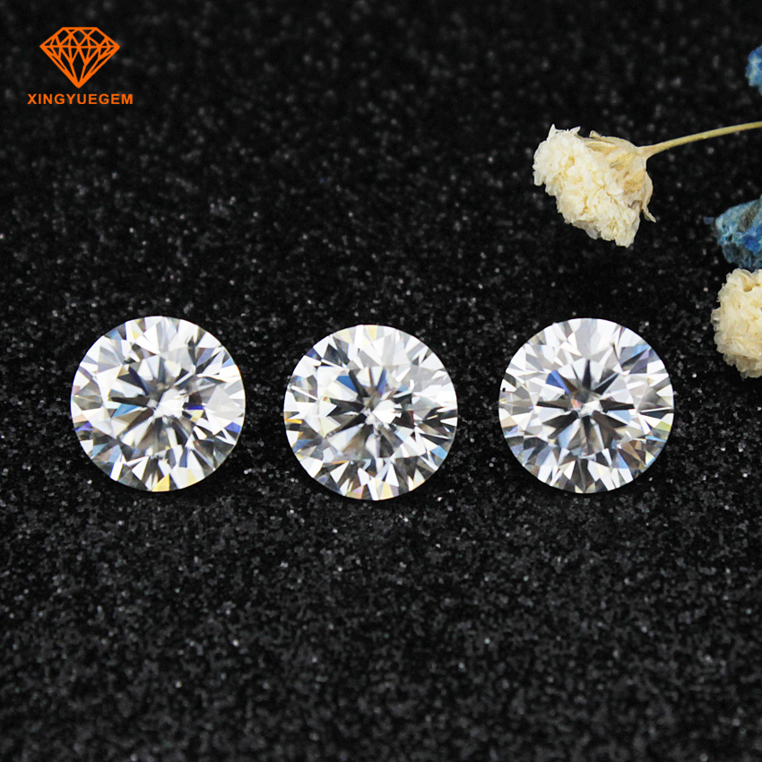 high quality lab created 4mm moissanite <strong>diamond</strong> for jewely
