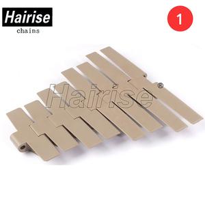 Hairise plastic tobacco industrial mat flat table slat top miniature  conveyor chain belt parts manufacturers
