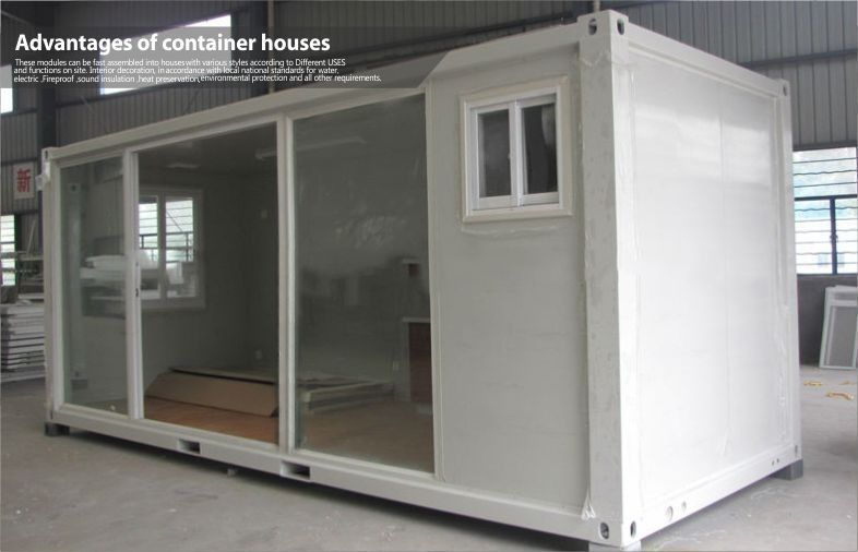 Commercial Portable House With Sliding Glass Door
