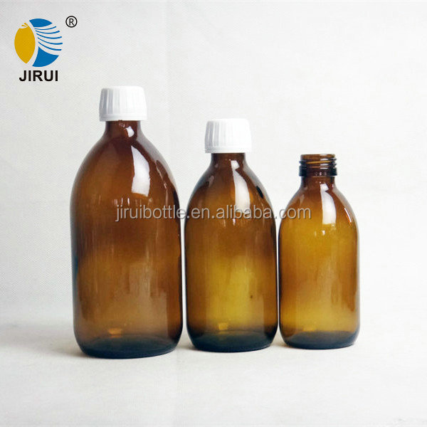 200ml 300ml 500ml pharmaceutical amber glass bottle