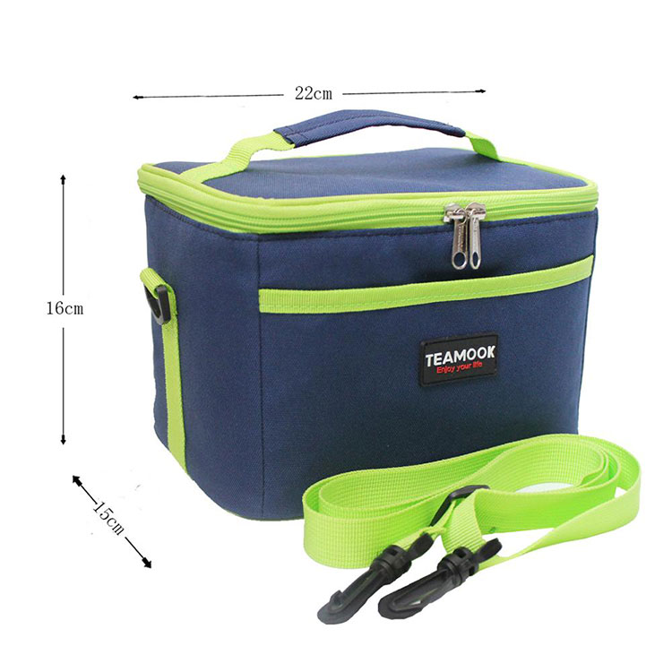 Hot food delivery tote bag insulated cotton canvas cooling portable shopping cooler bag