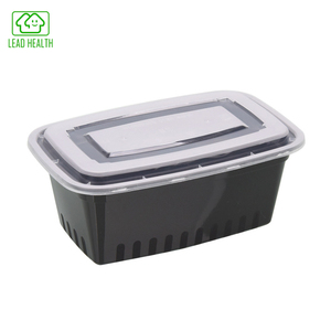 Custom disposable plastic food container transparent lunch box