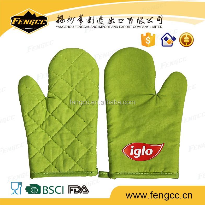 FDA Approved neoprene printed roasting oven mitts heat resistant
