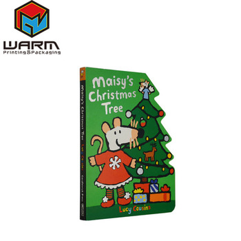 Christmas Tree Shaped Children Story Book Custom Design Kid Board Book