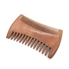 factory Cheap price double side tooth comb wooden lice Beard Mustache Comb
