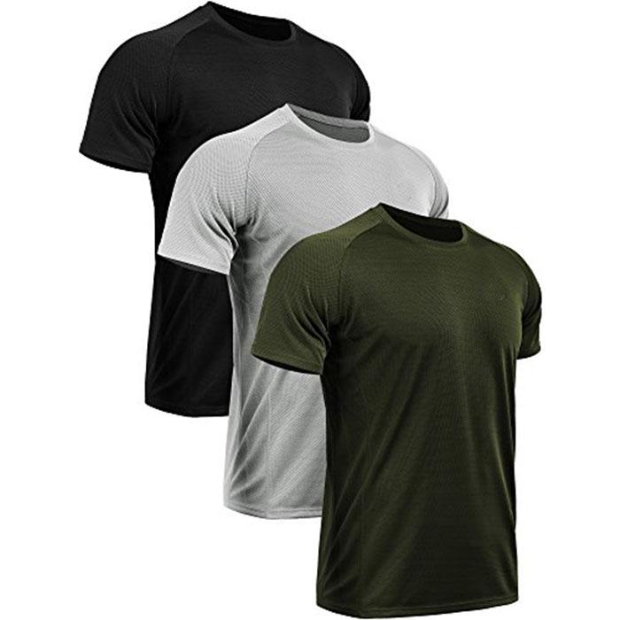 Commercio all'ingrosso degli uomini di Dry Fit sport da corsa camicia Della Maglia Athletic Shoes nero T-Shirt