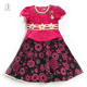 695-1 Rose Red Haolaiyuan Good quality sell well african girl kids fashion dresses