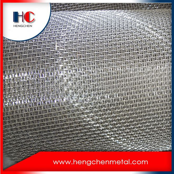 Heavy duty 304 stainless steel crimped wire mesh screen