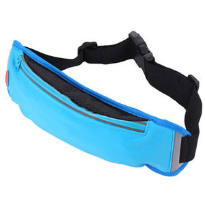 Newest soft polyester waterproof fabric unisex cell phone pouch money belt, fitness sport running belt waist bag