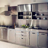stainless steel kitchen cabinet set