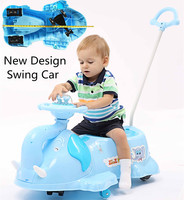 8 Wheels Elephant Wiggle Ride-On Baby And Adult Swing Car In Pink
