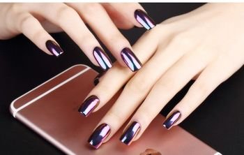 Mirror Effect Silver Pigment Chrome Powder For Nail Polish