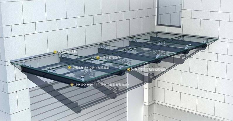 Aluminum Glass Curtain Wall Glass Canopy Glass Roof Buy
