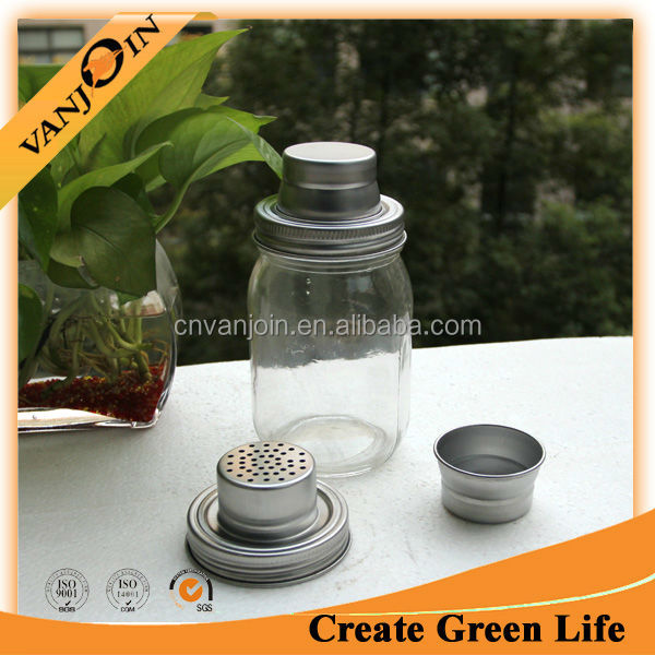 High Quality 16oz Glass Cocktail Shaker Set For Wholesale