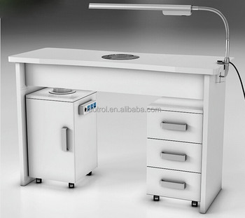 Modern Artificial Stone Nail Salon Manicure Table Station With Drawers