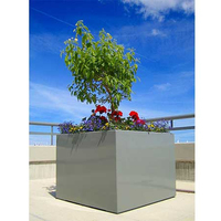 Arlau stainless steel silk-screen tree planter,stackable pots garden