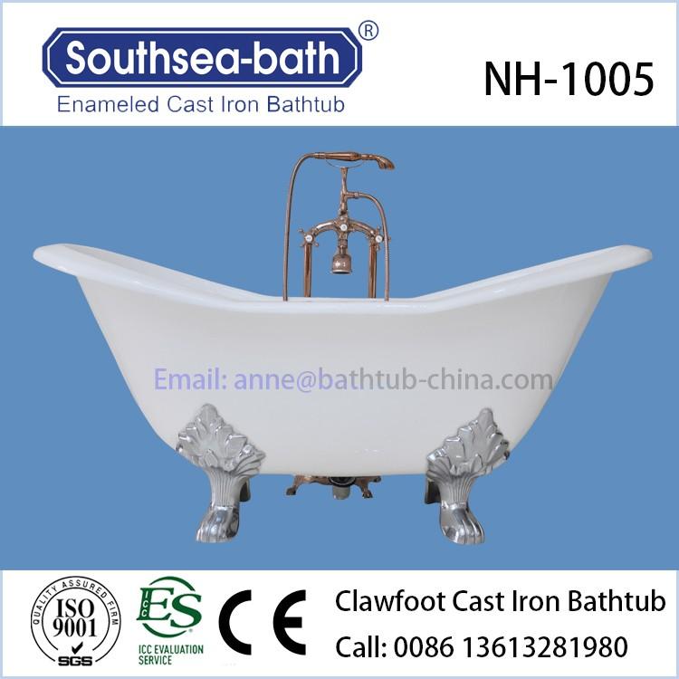 Cheap Double Slipper Clawfoot Cast Iron Bathtub/freestanding Bath ...