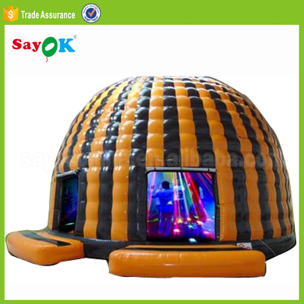 LED light inflatabla disco dome bouncy castle Inflatable bounce house