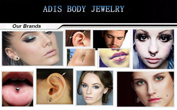 Wholesales diamond eyebrow piercing eyebrow rings jewelry steel stainles