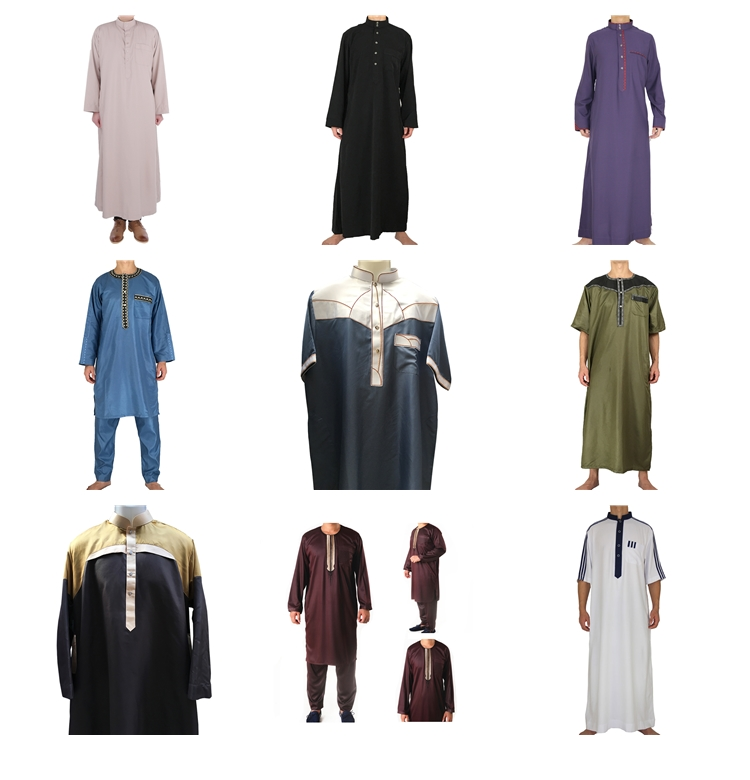 2017 Latest design men thobe muslim dubai