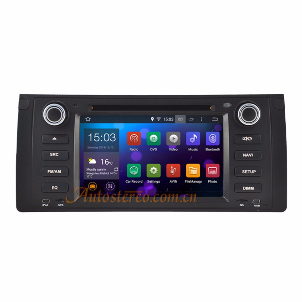 Quad Core Android 5.1 Car GPS Navigation DVD Player Radio for BMW E53/X5/E39 Android car stereo satnav