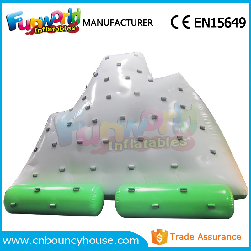 Pool floating games inflatable water iceberg inflatable climbing wall