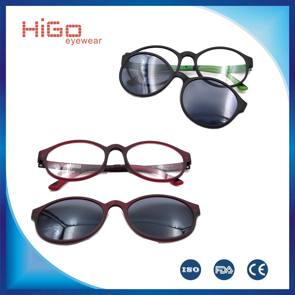 China Sunglass Manufacturers Tr90 Clip-on Optical Eyewear ...